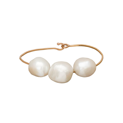 Three Pearl Wire Bracelet - Christina Alexiou - Bracelets | Broken English Jewelry