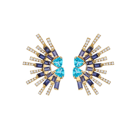 Sapphire Sunshine Earrings - Carol Kauffman - Earrings | Broken English Jewelry