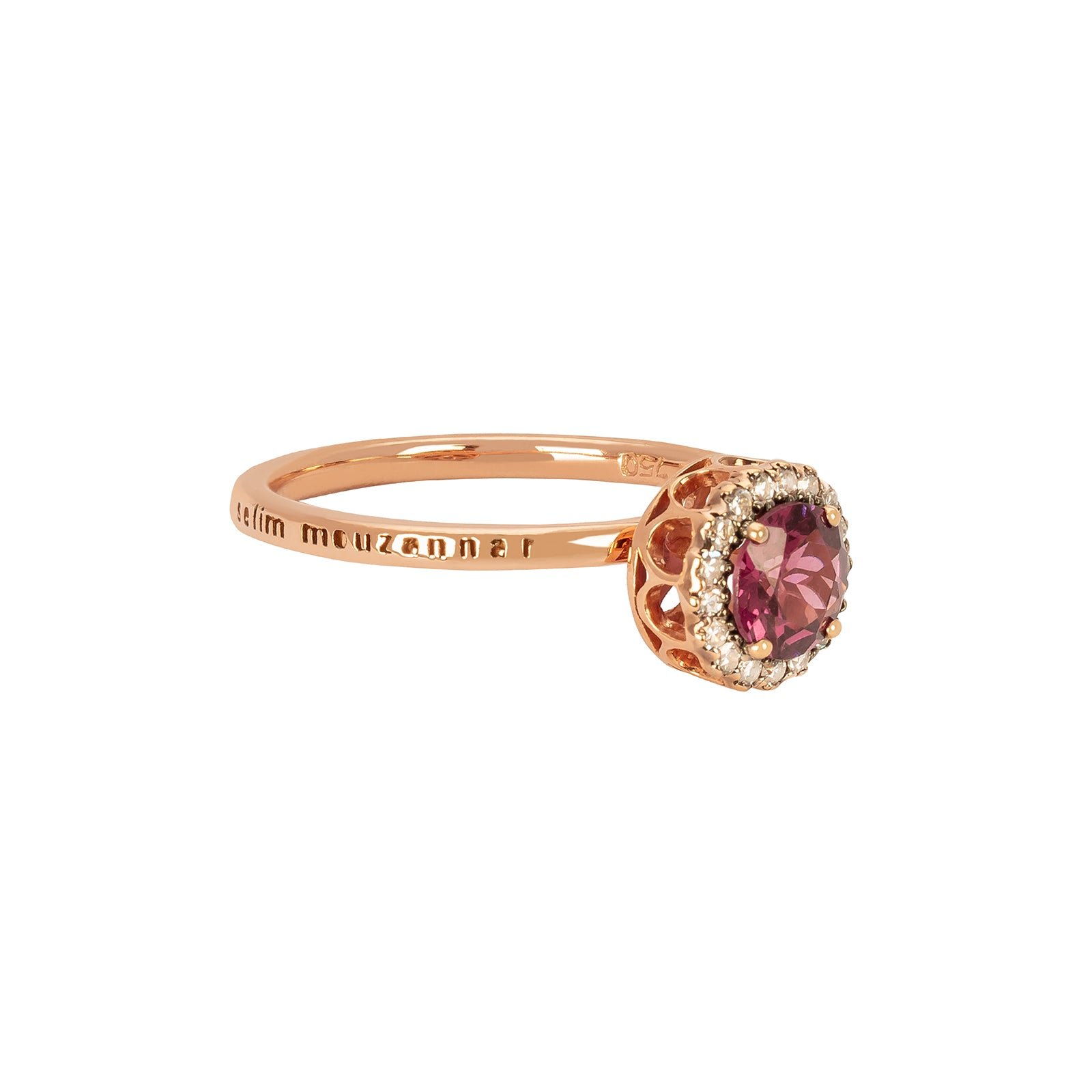 Selim Mouzannar Beruit Basic Ring - Rhodolite & White Diamond - Rings - Broken English Jewelry