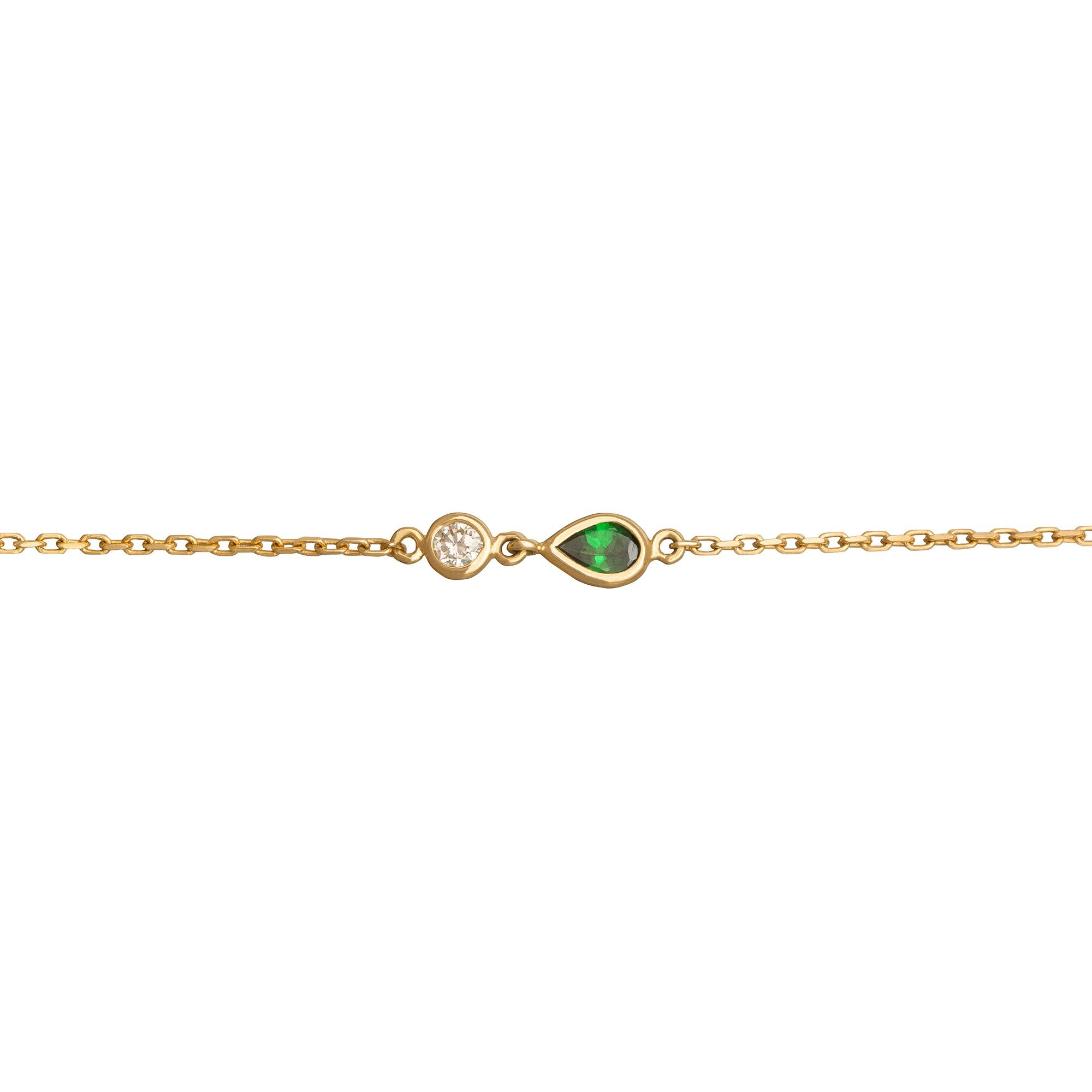 Tsavorite and Diamond Bracelet - YI Collection - Bracelets | Broken English Jewelry