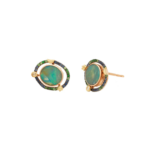 Mini Opal Orb Earrings - Bibi van der Velden - Earrings | Broken English Jewelry