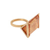 BaYou with Love Large Triangle Ring - Topaz - Rings - Broken English Jewelry