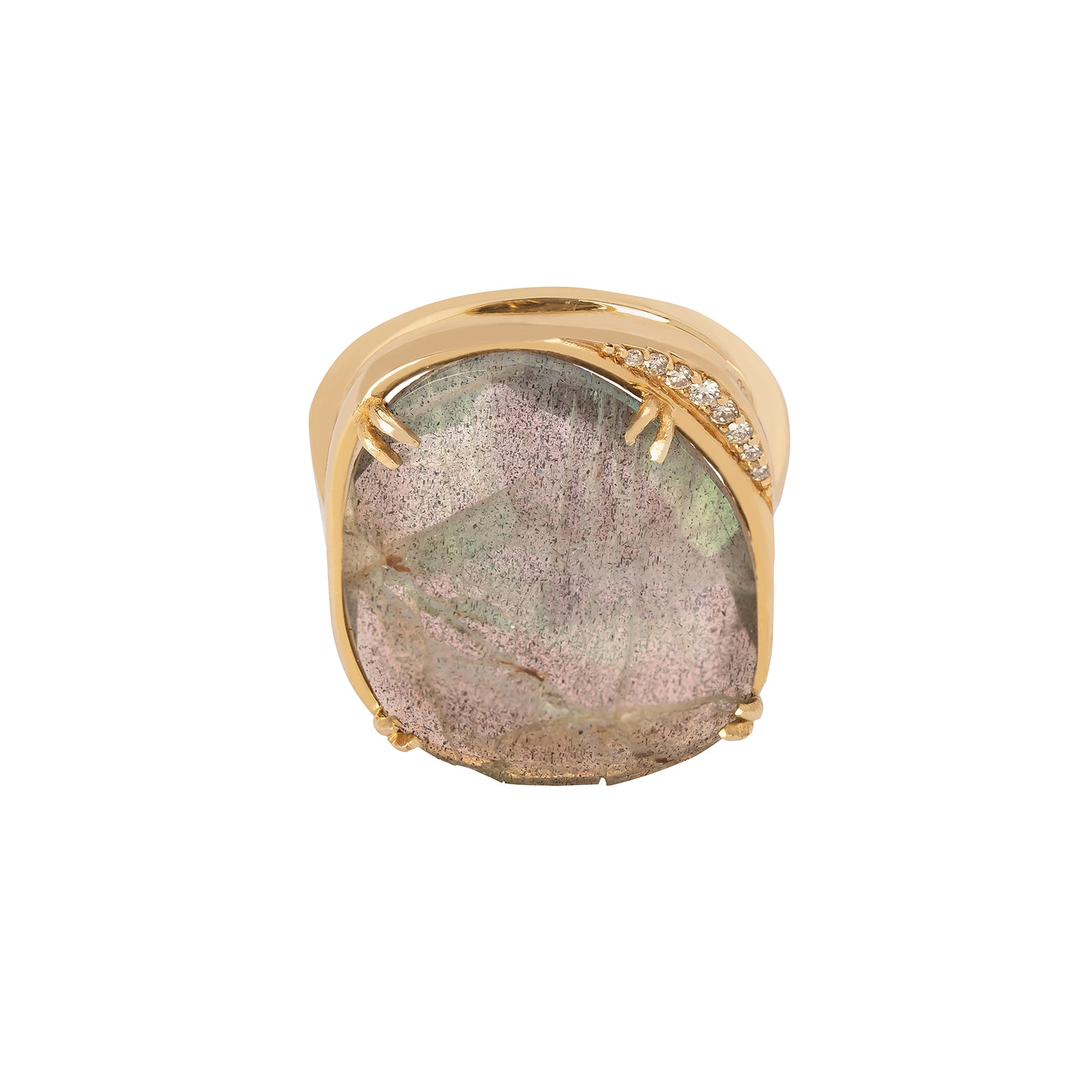 BaYou with Love Lunar Ring - Labradorite - Rings - Broken English Jewelry