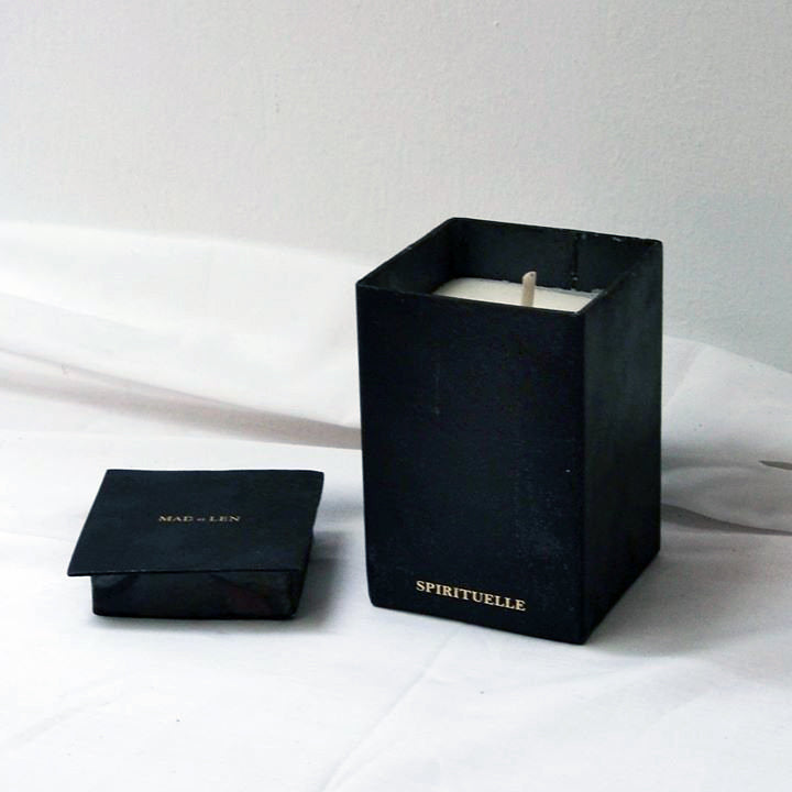 Mad et Len Black Block Vertical Candle - Petits Papier - Home & Decor - Broken English Jewelry