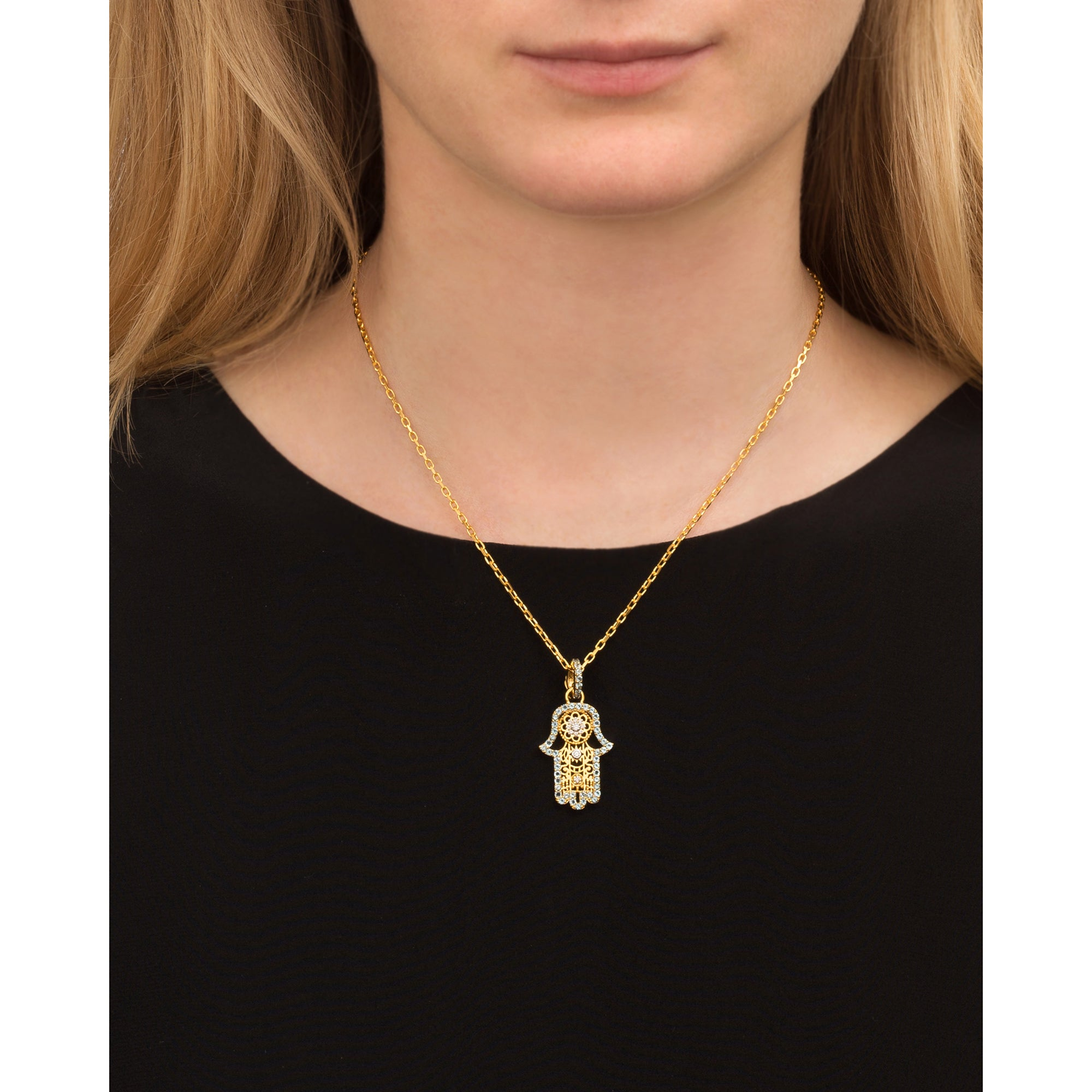 Small Hamsa Necklace by Buddha Mama for Broken English Jewelry