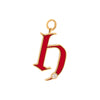 Foundrae Letter H Charm - Red Enamel - Charms & Pendants - Broken English Jewelry