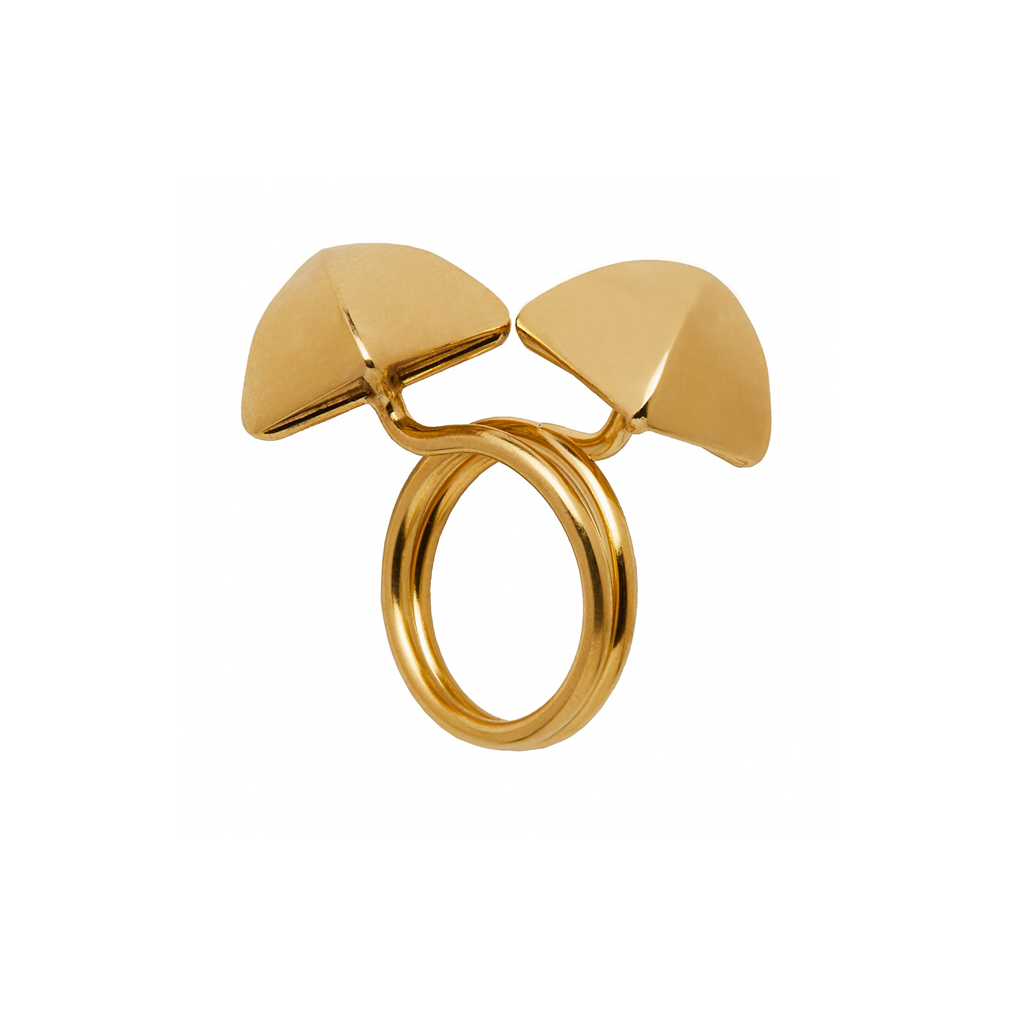 Small Gold Pyramid Ring - Christina Alexiou - Ring | Broken English Jewelry