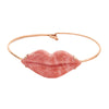Pink Opal Lips Bracelet - Christina Alexiou - Bracelet | Broken English Jewelry