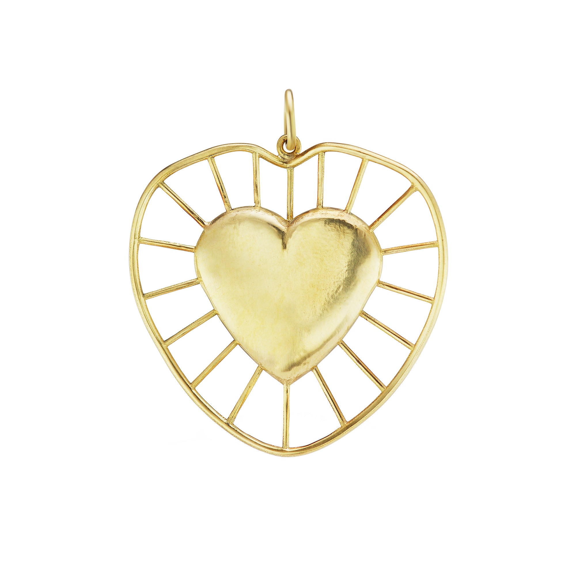 Radial Heart Charm - Christina Alexiou - Pendants & Charms | Broken English Jewelry