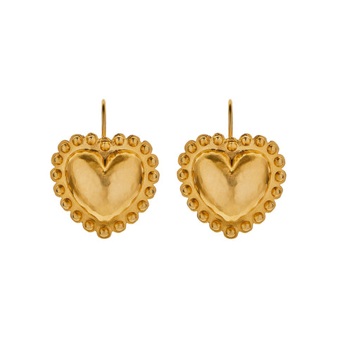 Heart Earrings - Christina Alexiou - Earrings | Broken English Jewelry