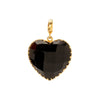 Christina Alexiou Large Heart Charm - Black Agate - Charms & Pendants - Broken English Jewelry