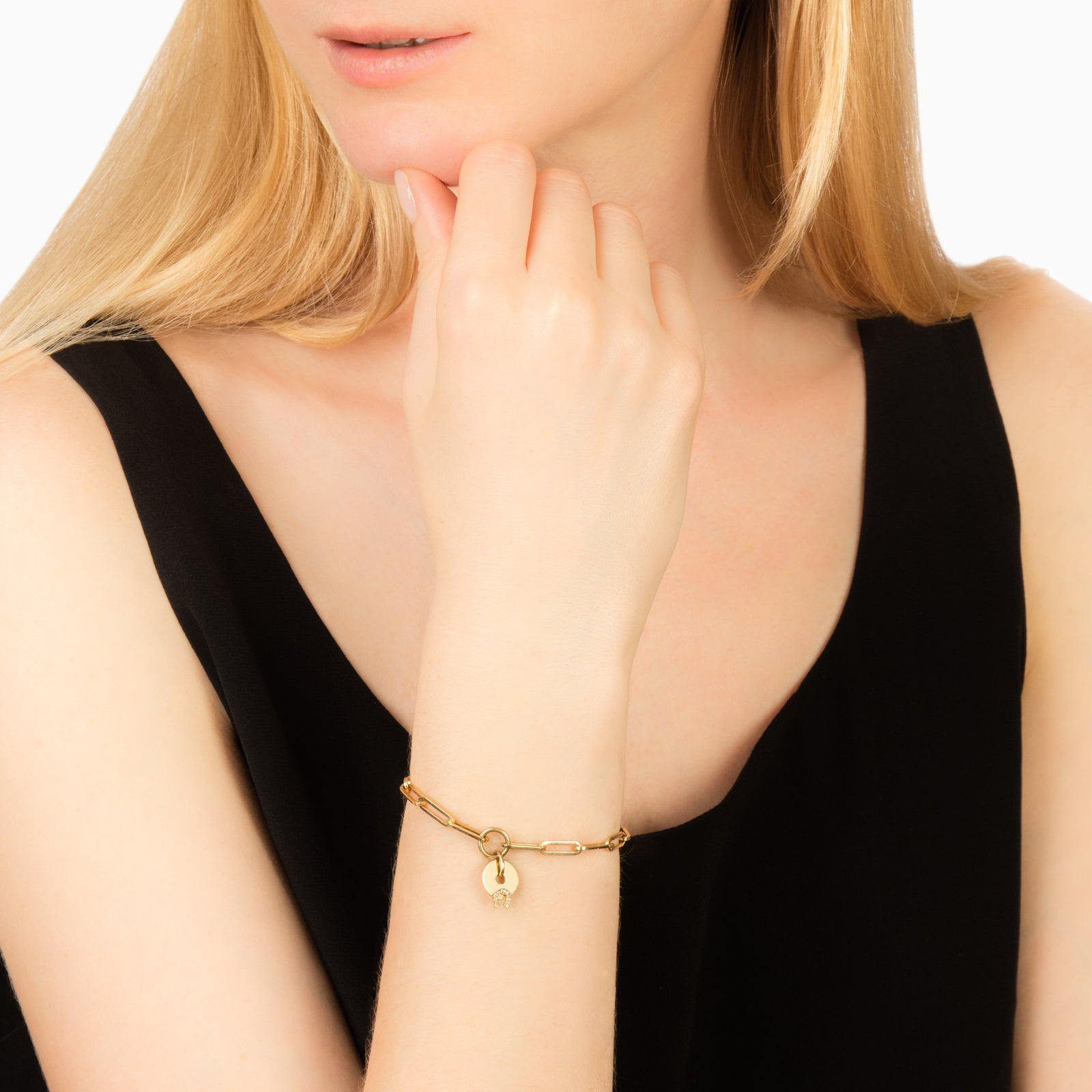 Foundrae Classic FOB Clip Bracelet - Gold Horseshoe - Bracelets - Broken English Jewelry