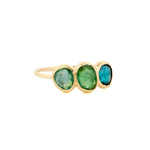 Multi Tourmaline Ring by Celine Daoust for Broken English Jewelry