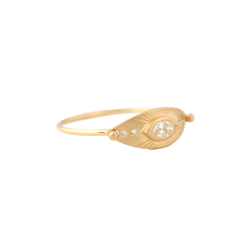 Big Eye Marquise Ring by Celine Daoust for Broken English Jewelry