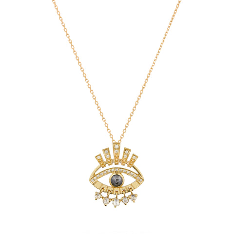Eye Pendant Necklace - Celine Daoust - Necklace | Broken English Jewelry