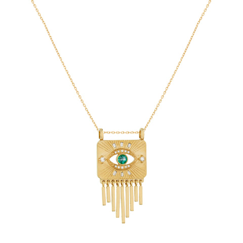 Open Eye Plate Necklace - Celine Daoust - Necklaces | Broken English Jewelry