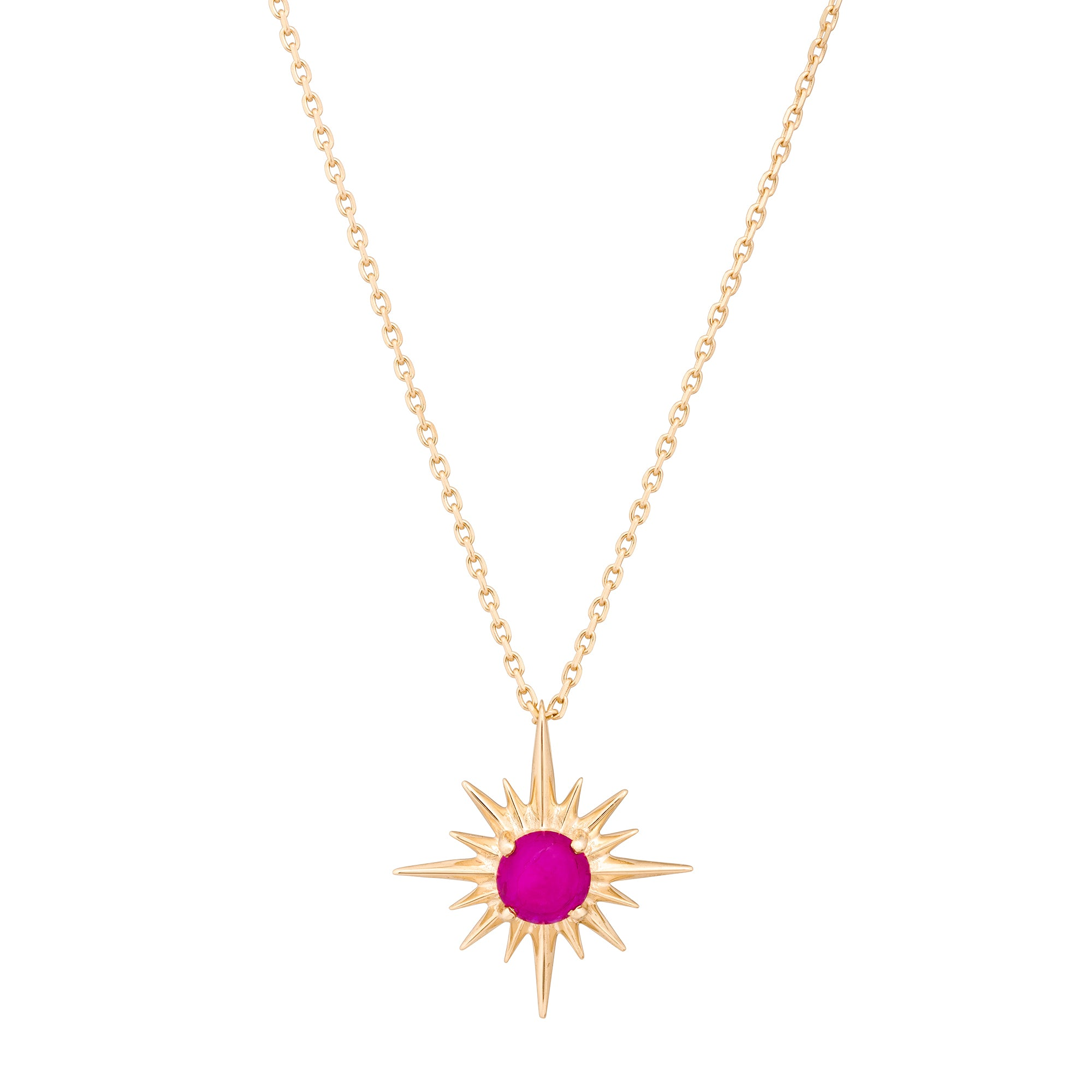 Gold & Ruby Star Necklace by Celine Doust for Broken English Jewelry