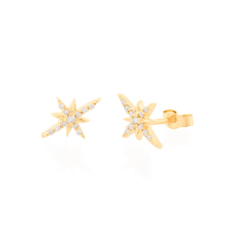 North Star Studs by Celine Daoust for Broken English Jewelry