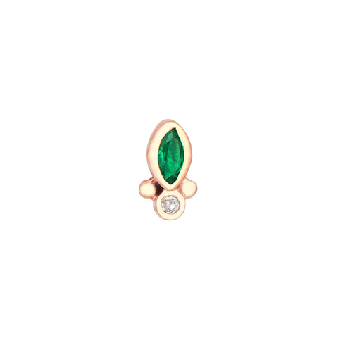 Marquise Emerald Earring by Celine Daoust for Broken English Jewelry