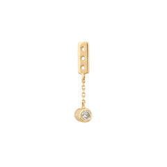 Gold & White Diamond Low Hanging Ear Jacket by Celine Doust for Broken English Jewelry