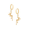 Gold & White Diamond Constellation Dangle Hoops by Celine Doust for Broken English Jewelry