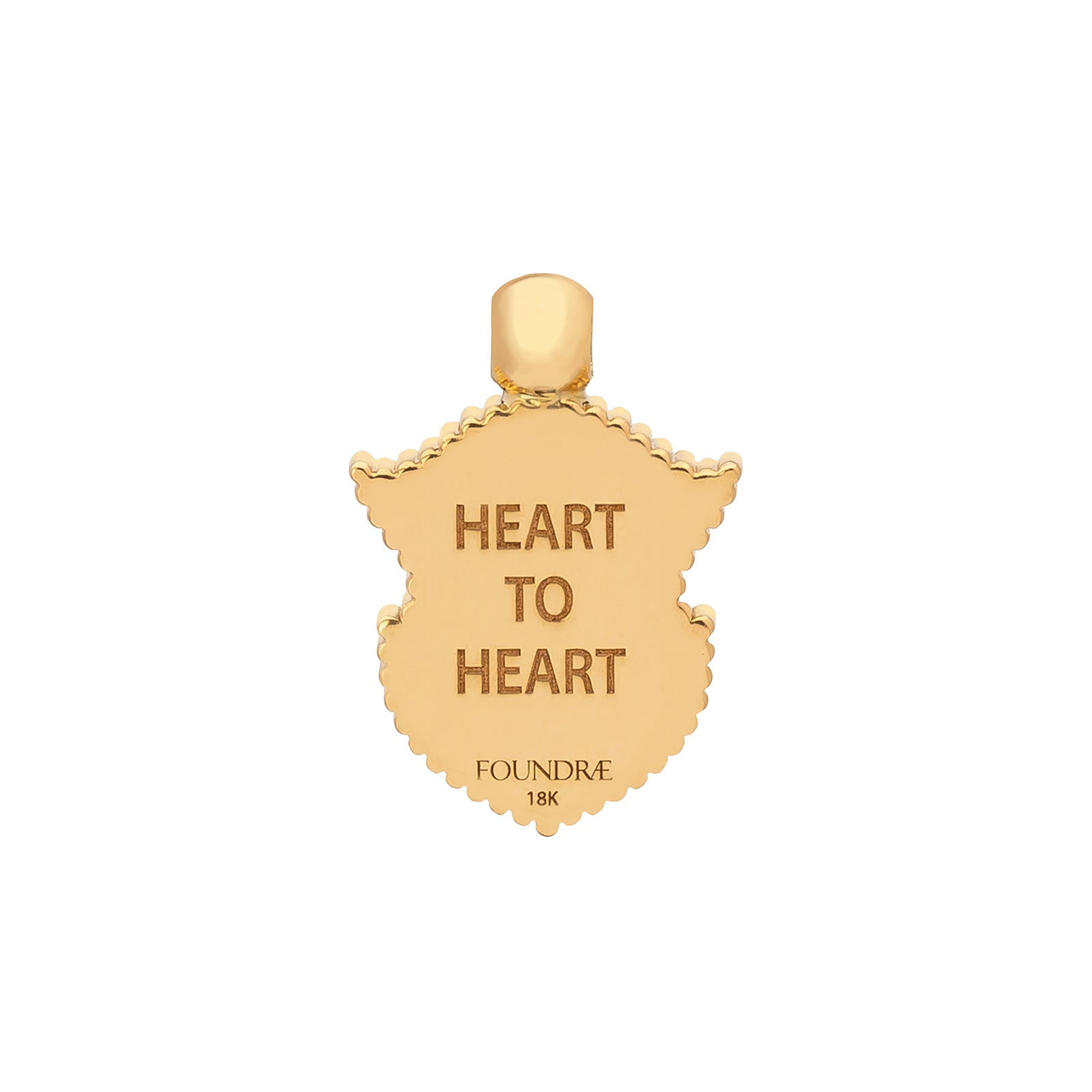 Foundrae Cor Ad Cor Heart Coin Edge Crest - Charms & Pendants - Broken English Jewelry