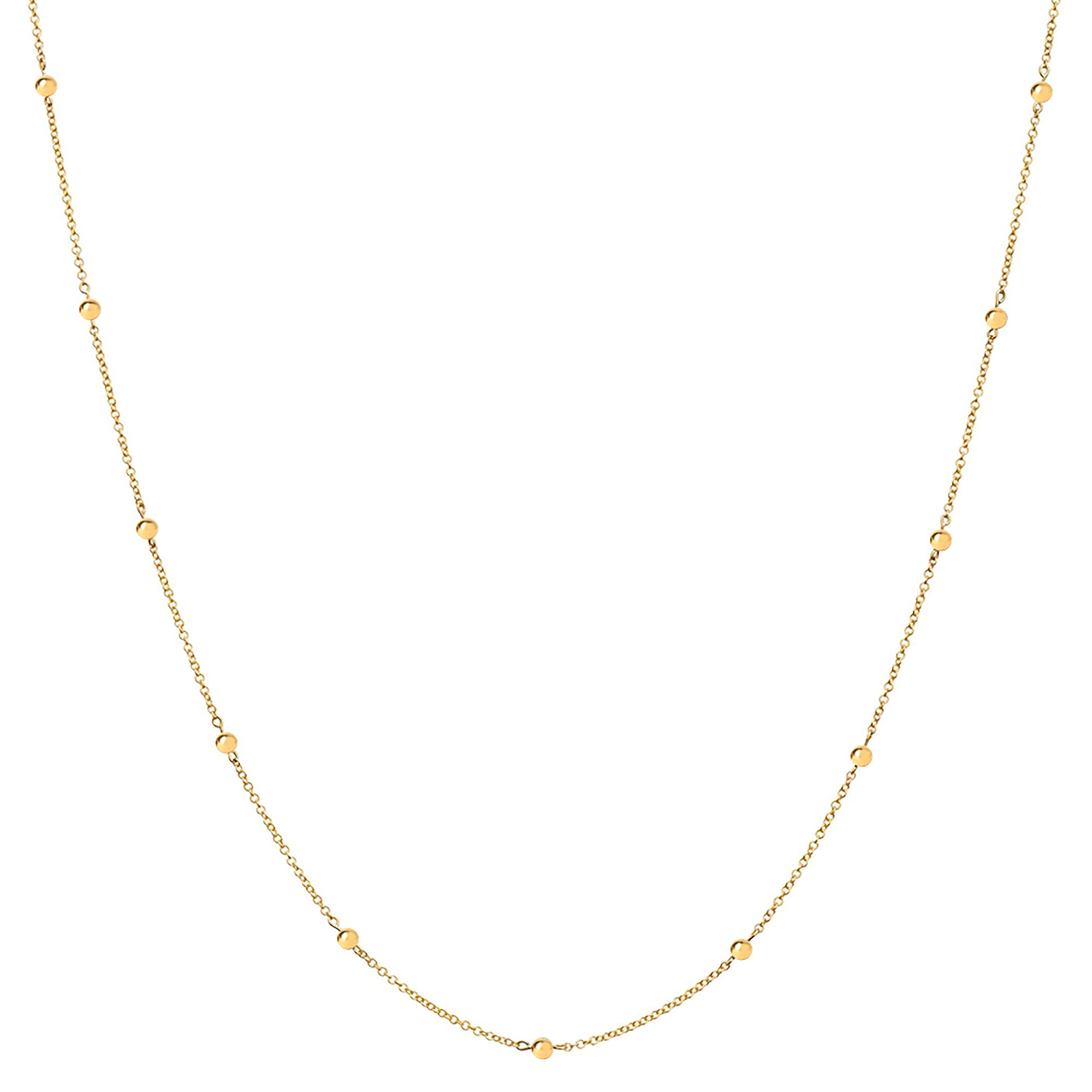 Rosa de la Cruz Gold Dot Necklace - Necklaces - Broken English Jewelry