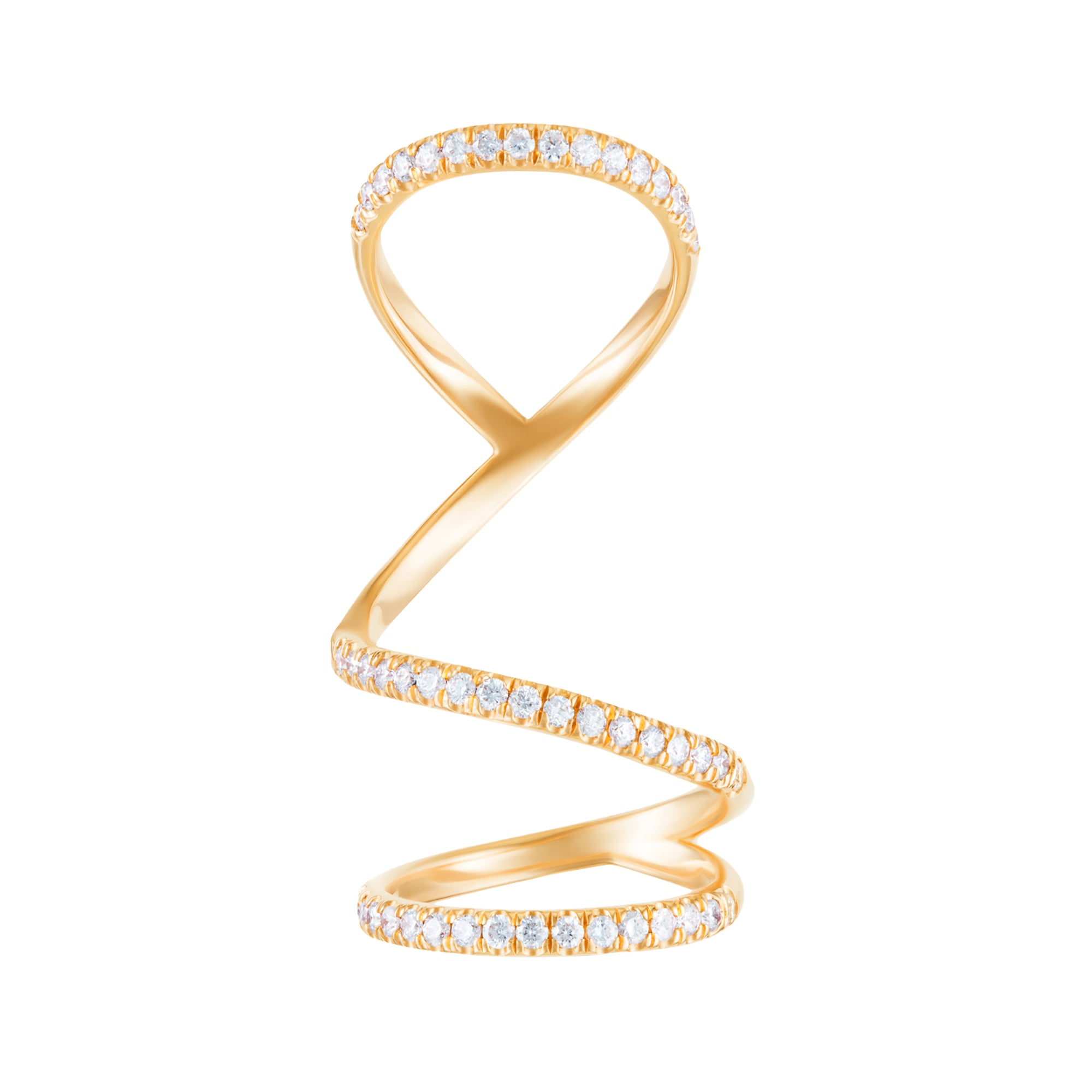 Gold & White Diamond Arabesque Ring by Carbon & Hyde for Broken English Jewelry