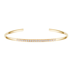 Gold & White Diamond Half Infinity Bangle by Carbon & Hyde for Broken English Jewelry