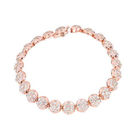 Crown Tennis Bracelet by Carbon & Hyde for Broken English Jewelry