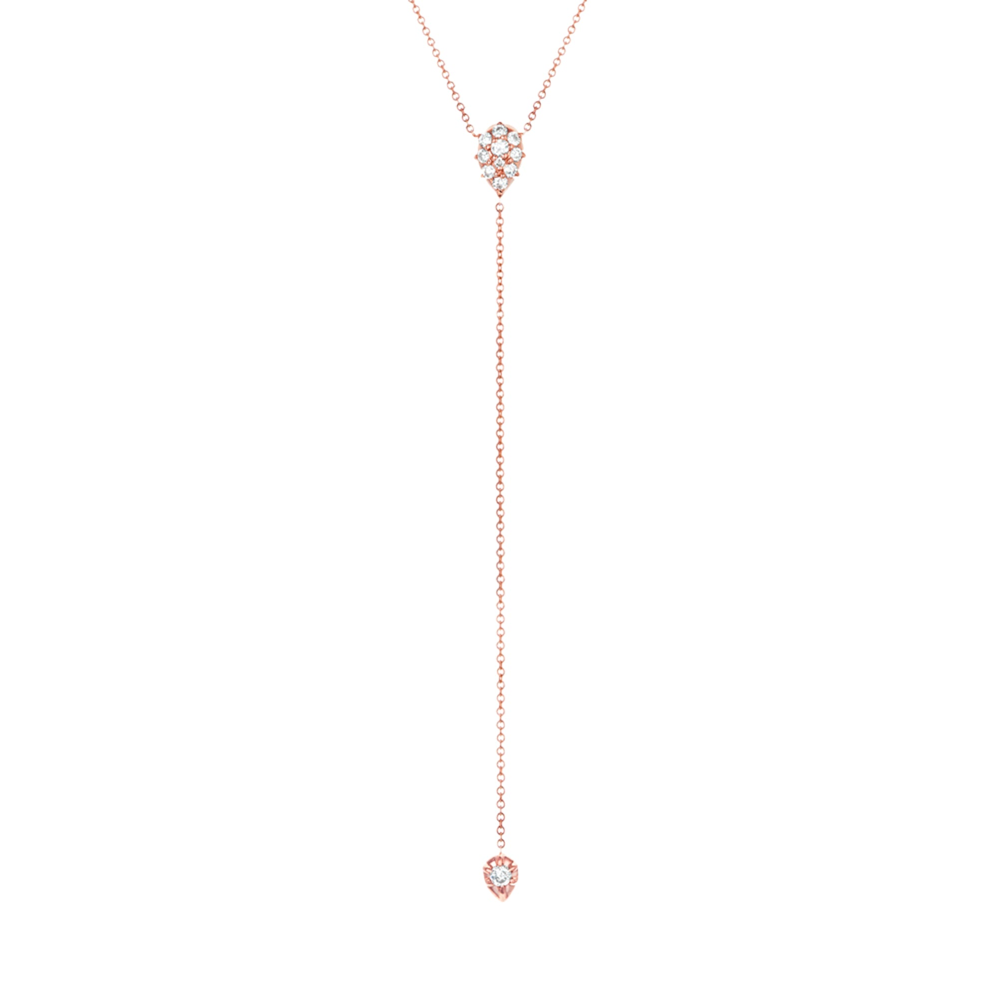 Gold & White Diamond Stella Lariat by Carbon & Hyde for Broken English Jewelry