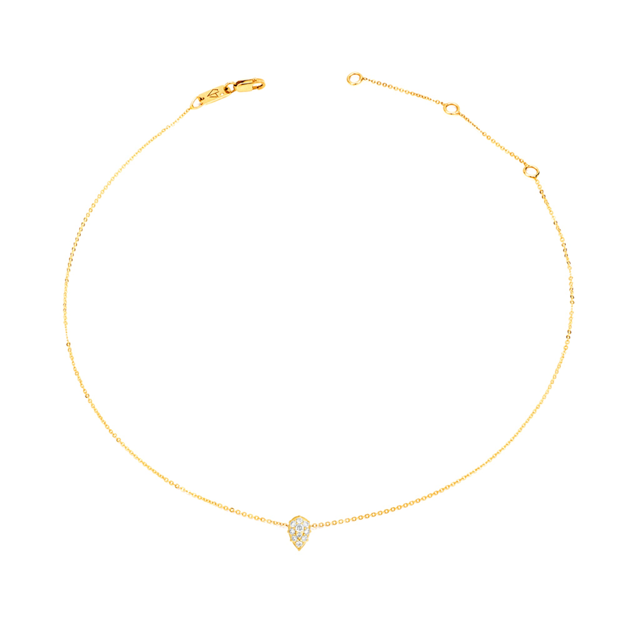 Gold & White Diamond Venus Necklace by Carbon & Hyde for Broken English Jewelry