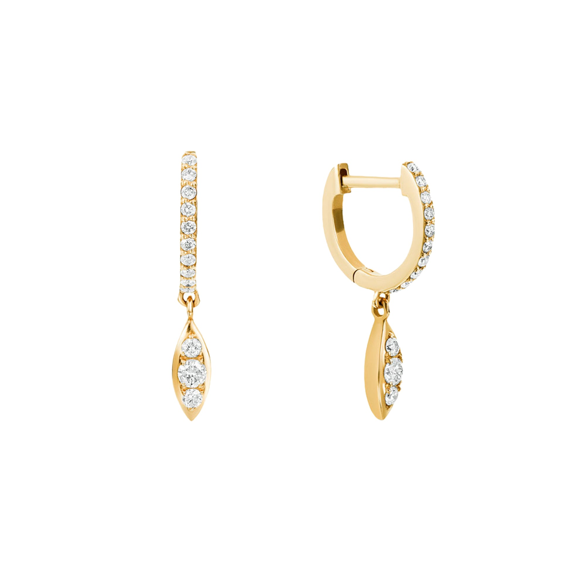 Gold & White Diamond Delilah Earrings by Carbon & Hyde for Broken English Jewelry