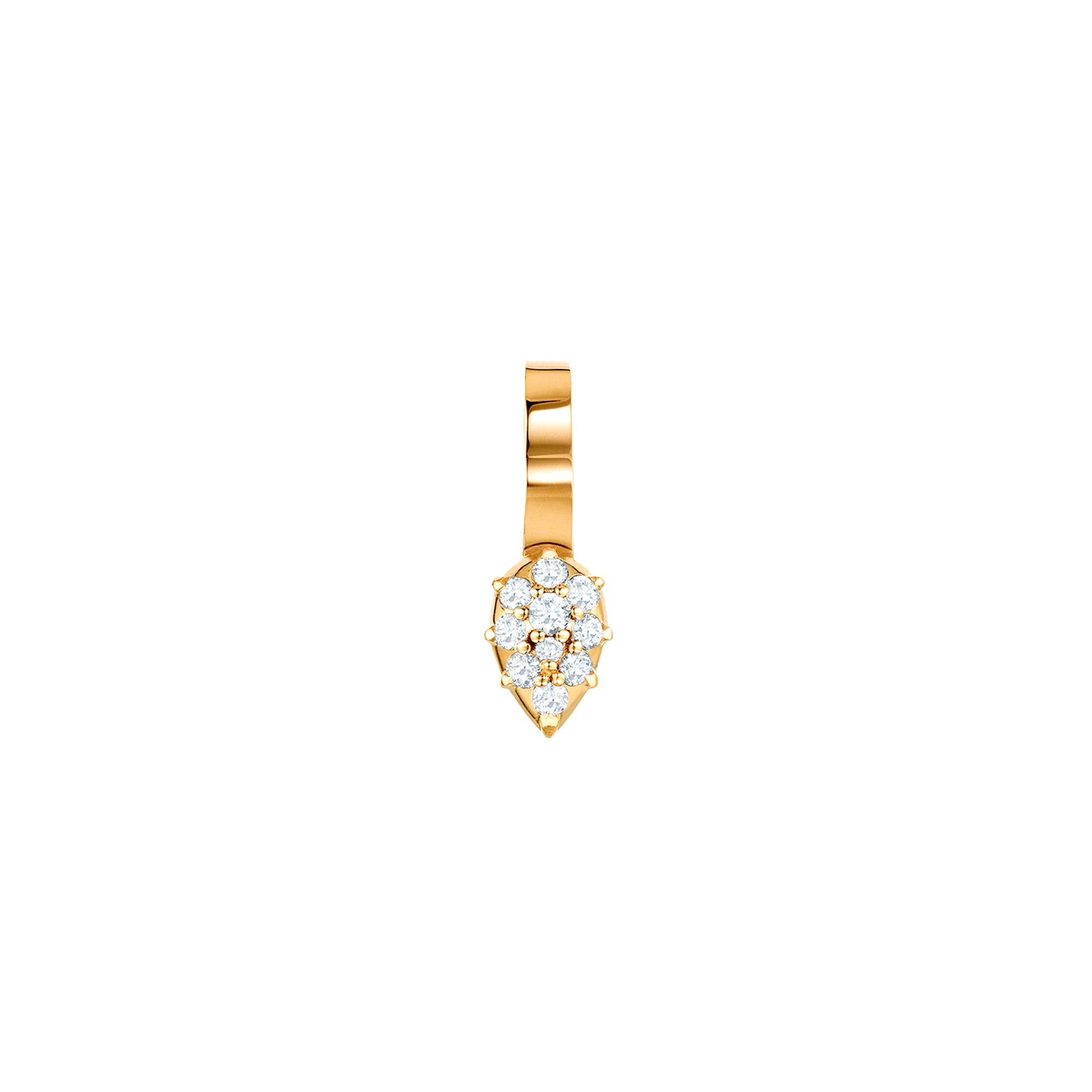 Gold & White Diamond Arya Earcuff by Carbon & Hyde for Broken English Jewelry