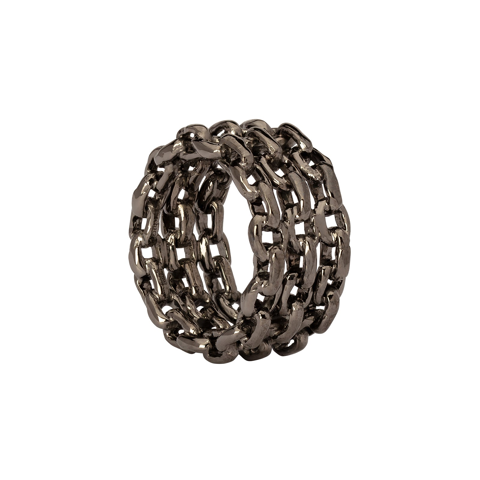 Patcharavipa Chain Three Row Ring - Black Gold - Rings - Broken English Jewelry