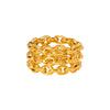 Chain Three Row Ring - Yellow Gold