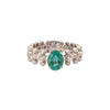 Carla Amorim Carioca Wedding Band - Emerald & Diamond - Rings - Broken English Jewelry