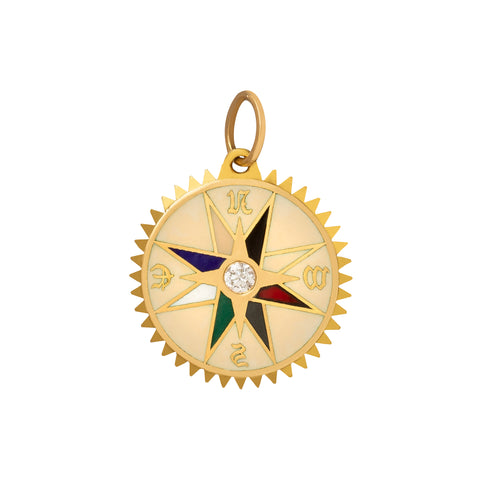 Petite Cream Course Correction Medallion - Foundrae - Charms & Pendants | Broken English Jewelry