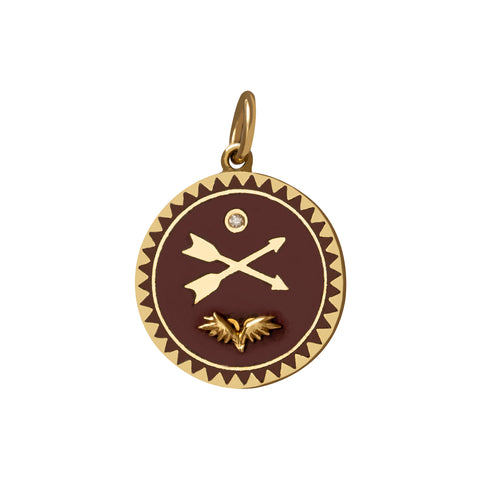 Bordeaux Passion Medallion - Foundrae - Charms & Pendants | Broken English Jewelry