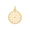 Foundrae White Enamel Pyramid Medallion - Charms & Pendants - Broken English Jewelry