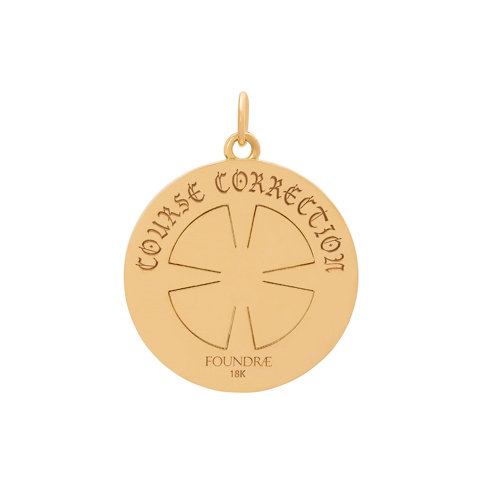 Foundrae Course Correction Compass Medallion - Charms & Pendants - Broken English Jewelry