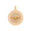 Foundrae Wings Wheel Medallion - Charms & Pendants - Broken English Jewelry