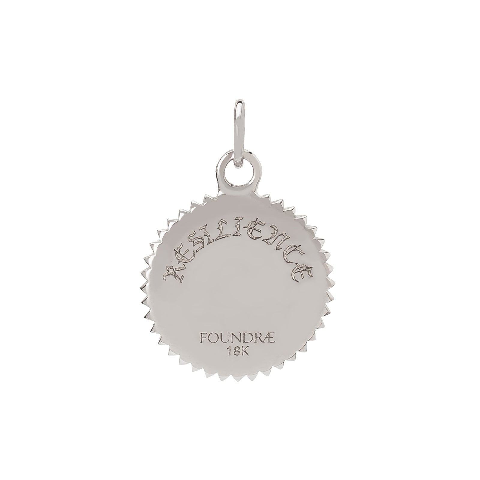 Foundrae Petite Resilience Medallion - White Gold - Charms & Pendants - Broken English Jewelry