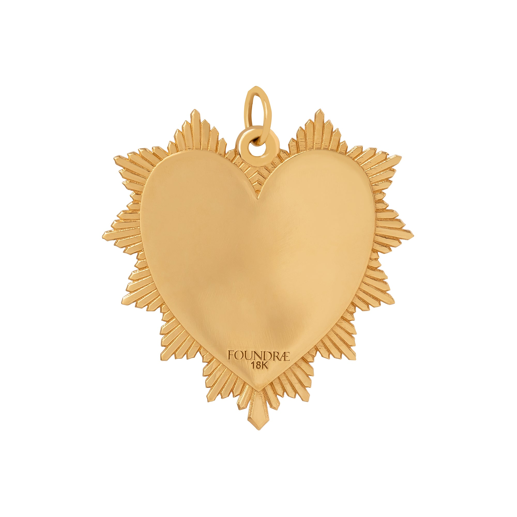 Foundrae Block Oversized Heart Love Token - Charms & Pendants - Broken English Jewelry
