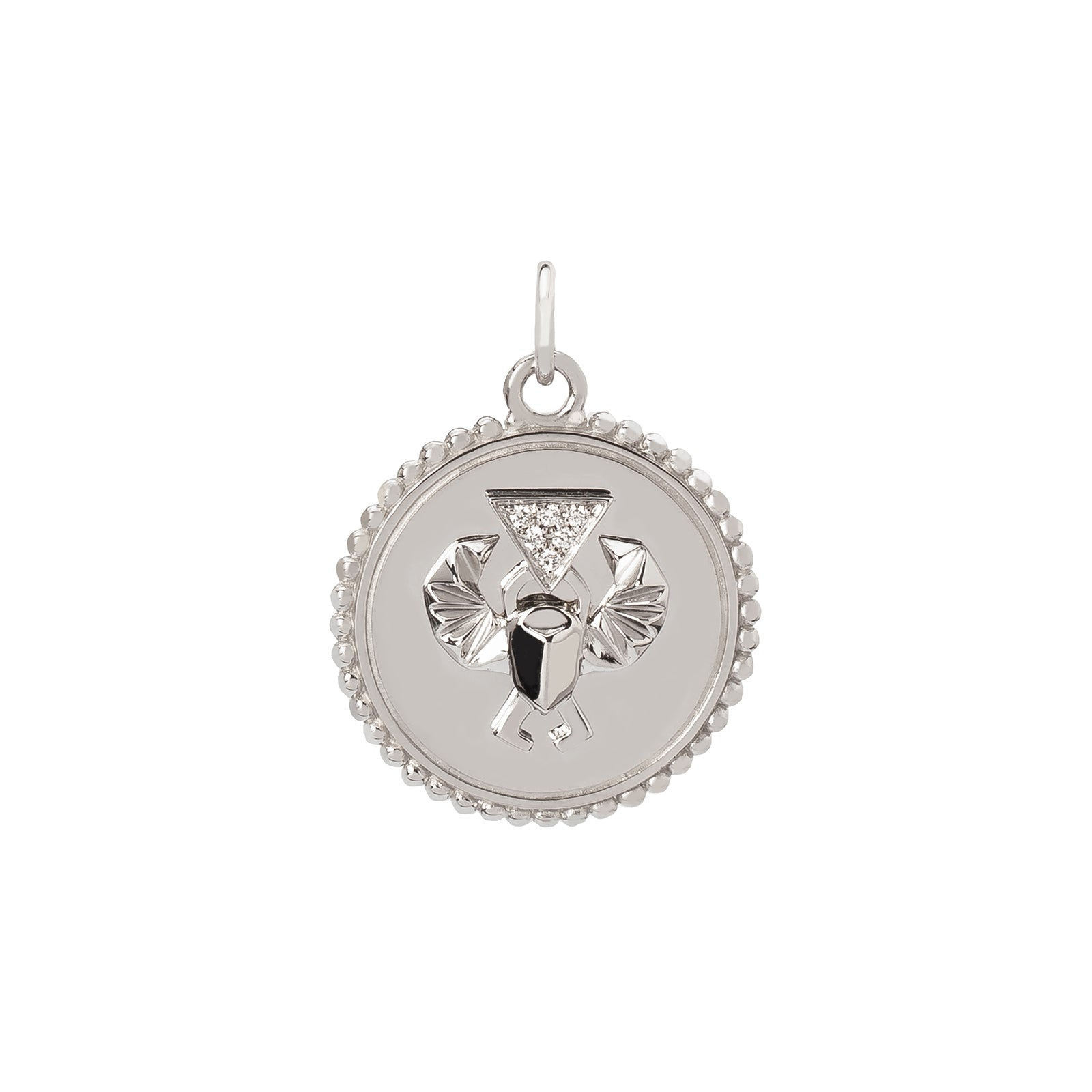 Foundrae Protection Medallion - White Gold - Charms & Pendants - Broken English Jewelry