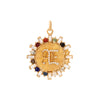 Foundrae Aether Badge Multi Gem Medallion - Charms & Pendants - Broken English Jewelry