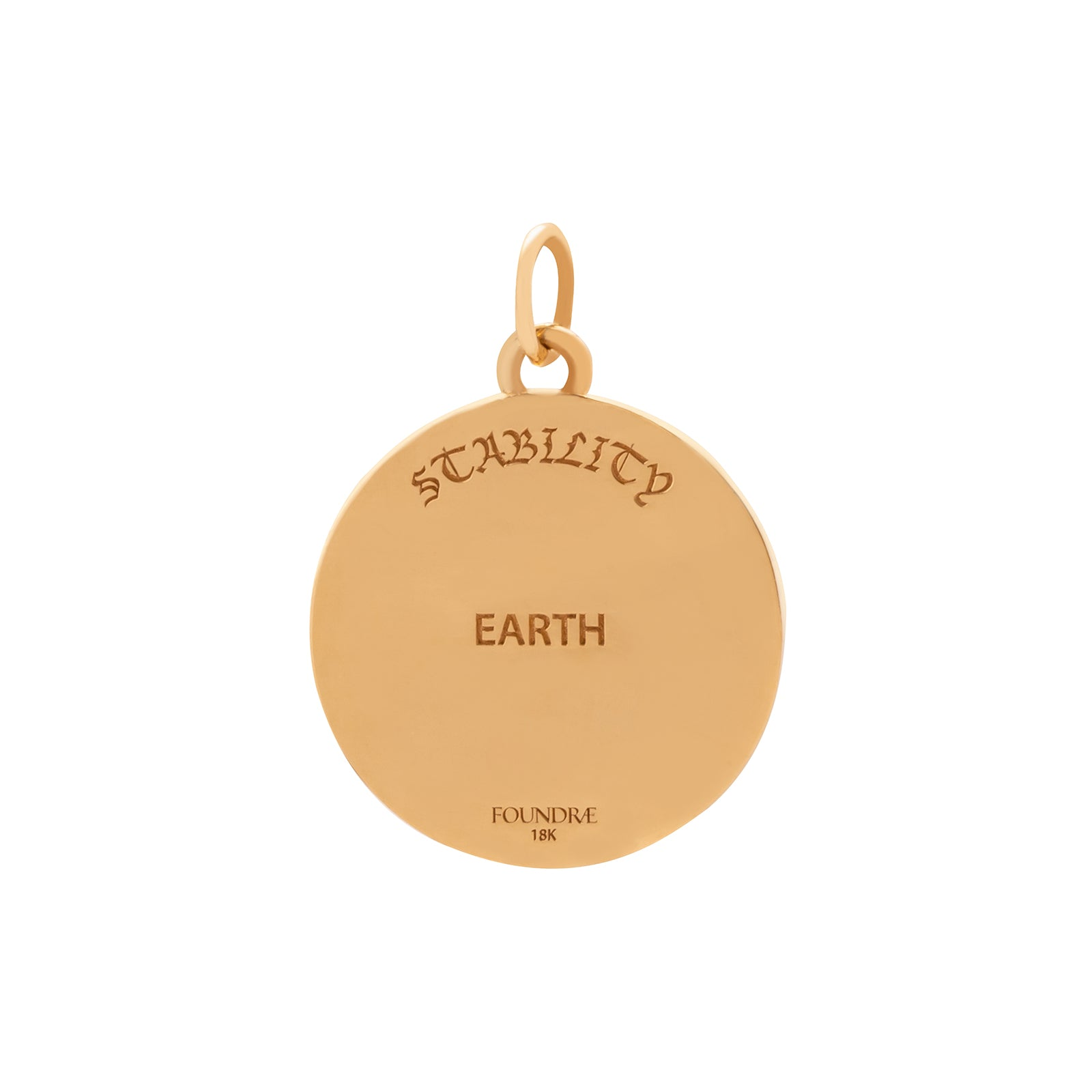 Foundrae Earth Badge Medallion - Charms & Pendants - Broken English Jewelry