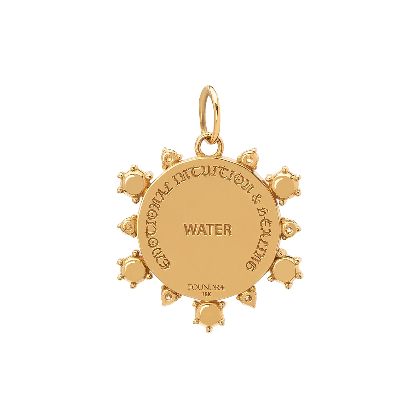 Foundrae Badge Medallion - Emotional Intuition & Healing Water - Charms & Pendants - Broken English Jewelry
