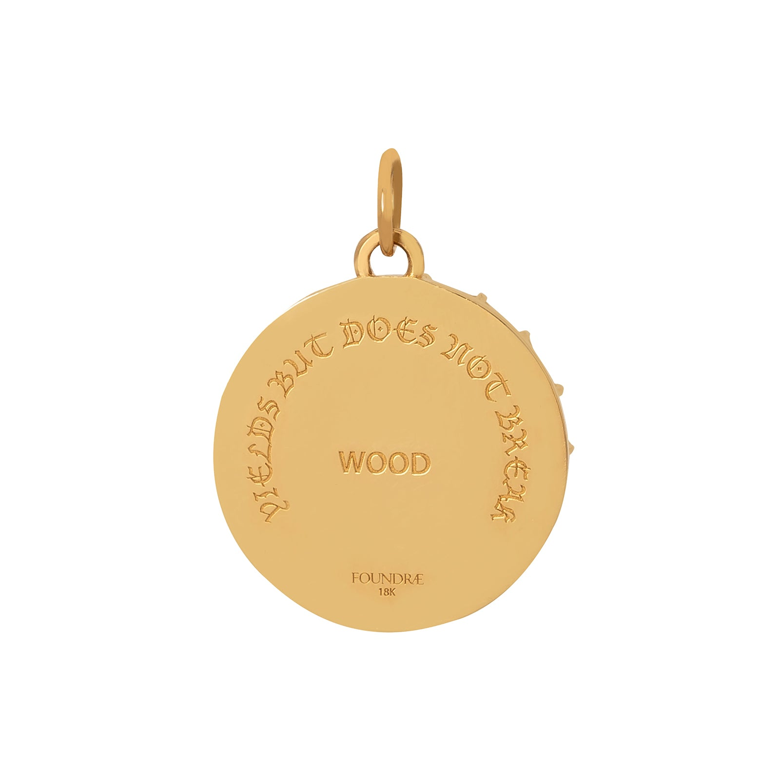 Foundrae Wood Badge Medallion - Charms & Pendants - Broken English Jewelry