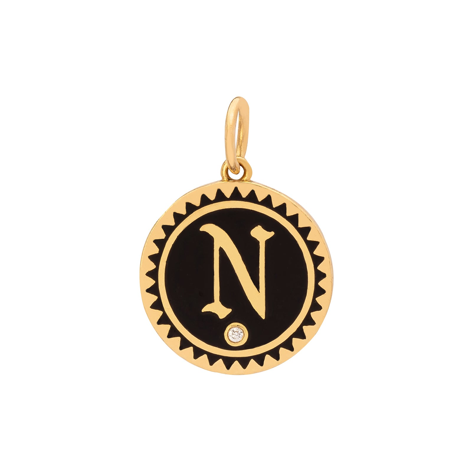 Foundrae Black Enamel North Medallion - Charms & Pendants - Broken English Jewelry